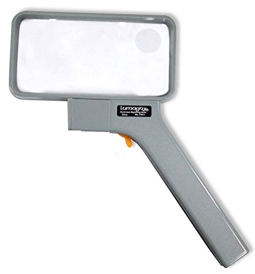 Lumagny Rectangular Lighted Magnifier With 2